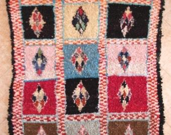 "280X150 CM (9' 2"" X 4' 11"" )  T31527 boucherouite , boucharouette,  moroccan rugs , berber rugs, morocco carpets"