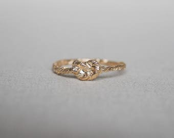 Solid Gold Forget Me Knot Ring