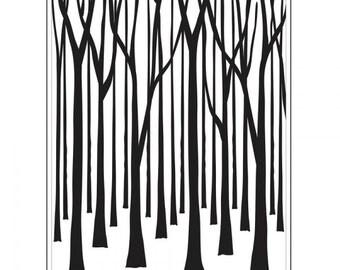 TREE TRUNKS Embossing Folder by Darice Size A2