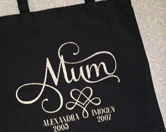 Personalised shopper tote bag