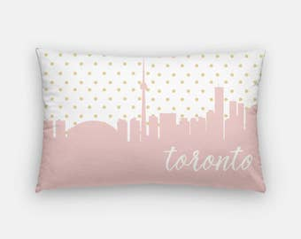Toronto Pillow Toronto Skyline Map Decor Canada Pillow - home decor toronto ontario