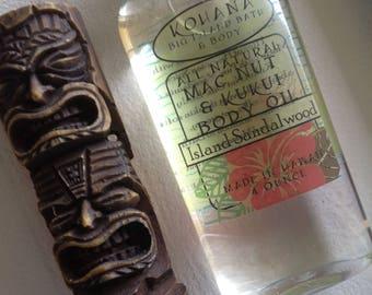Island Sandalwood-Macadamia Kukui Nut Body Oil-MADE IN HAWAII
