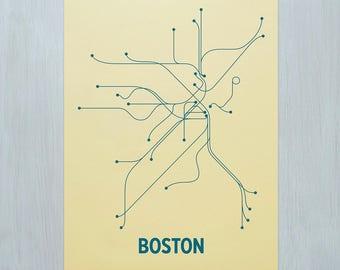 Boston Screen Print - Yellow/Sea Blue