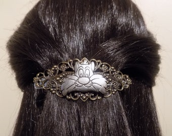 Small  Barrette/ womens gift/ Sylvester the Cat/cat gift