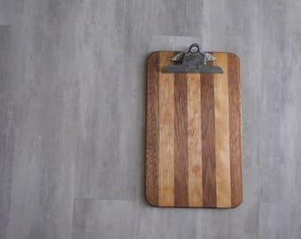 Vintage Wood Clipboard - repurposed display, photo display