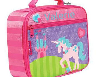 Personalized Lunch Box Bag Stephen Joseph Unicorn