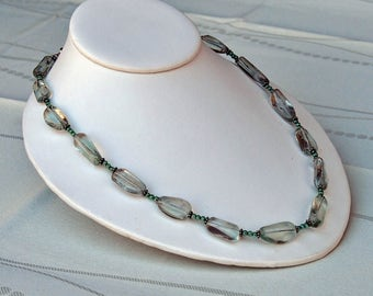 Prasiolite Necklace with Sterling Silver