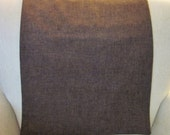 "Headrest Chair Protector or Cover, Brown Burlap-Like Fabric, 34"" x 14"", Recliner/Chair/Sofa Head Rest Cover, Antimacassar"