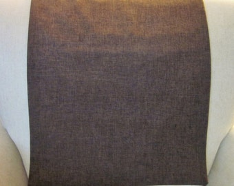 "Headrest Chair Protector or Cover, Brown Linen-Like Fabric, 30"" x 14"", Recliner/Chair/Sofa Head Rest Cover, Antimacassar"