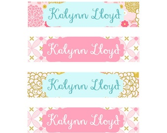 FAST SHIPPING! Clothing Name Labels, Clothing Name Tags, Fabric Name Labels, Iron-On, Iron On School Labels, Daycare, Camp, Girl Butterflies