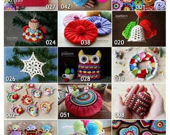 Crochet Patterns - Pick Any 10 Crochet and Knitting Patterns Bundle