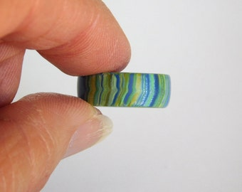 Dread Ring, polymer clay dread bead, large 13 mm bead hole