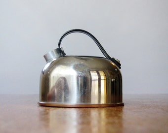 Rare Vintage Revere Ware Stainless / Plastic Toy Kettle / Teapot As Is