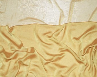 Light Gold iridescent two tone sheer Chiffon drapery wedding appeal fabric 50 yards
