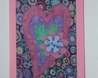 Heart Love Birthday Card Mom Friend Child Card Frame Gift Thank You Hello Housewarming Room Decor Paper Greeting Card 5x7 Him Her Send Love