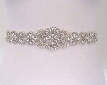 All around crystal wedding belt sash wedding dress belt, bridal belt