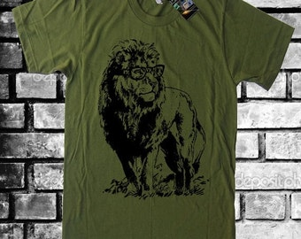 Professor Lion Tee Geeky Nerdy Geekery Men Tshirts Women Graphic Tees Kids Tshirt Gifts For Teacher Graduation Gift Teacher Novelty Gift