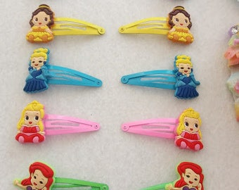 7 Pairs of Princess Hair Clips