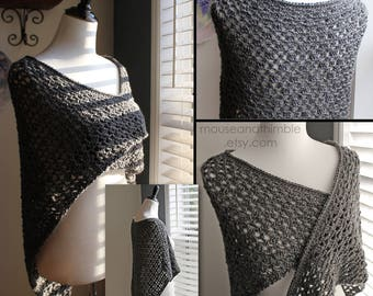 Smoky Mountain Shawl - Easy Crochet PATTERN (Small thru XX-Large)- PDF 5228
