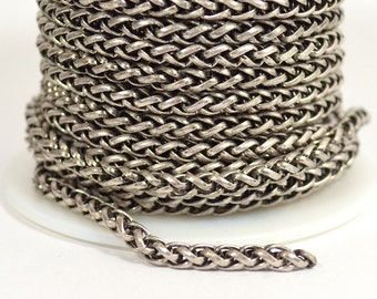 Wheat Chain - Antique Silver - CH121 - Choose Your Length