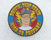 NEW Hank Hill / Casey Jones pin - Grateful Dead and Company Jerry Garcia inspired - propane 710 cannabis hippie hat pins