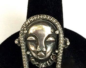 Silver Ring African Queen