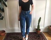 90s high waist LEE jeans - w 26 27 - medium wash tapered leg mom jeans