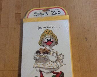 Vintage suzys zoo invitations
