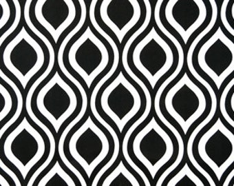 Black and White Geometric Curtains Emily - Rod Rocket  63 72 84 90 96 108 120 Long x 25 or 50 Wide