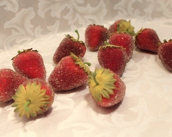 Fake Strawberries - Faux Fruit - Photo Shoots - Food Display