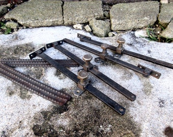 4 x Victorian Sliding Windows Latches - Industrial Factory