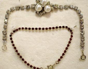 2 Amazing Vintage Rhinestone & Bracelets