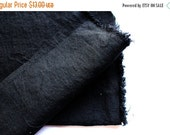 japanese pure linen fabric. medium weight linen. rudeback half worn out look. 110cm (43in) wide. sold by 50cm (19in) long. black