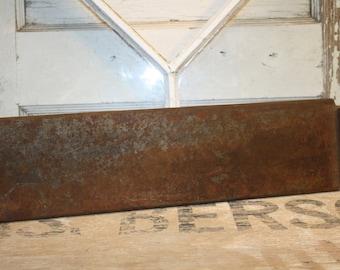 Metal Tray - Salvaged - Supplies - Rustic Decor - Vintage Metal Tray - Item # 1002