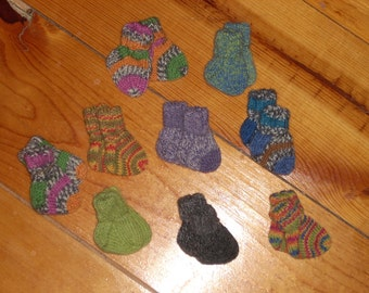 "Wool Preemie Socks 2"" Foot - Your Choice"