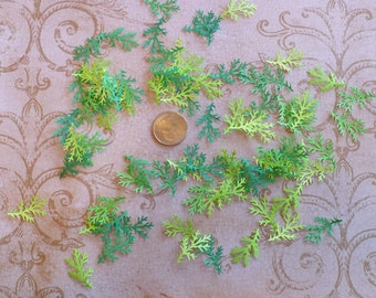 50 pc Pine Branch  /  Shapes /  Punchies / Punches made from asst. Bright Green colors Cardstock Paper