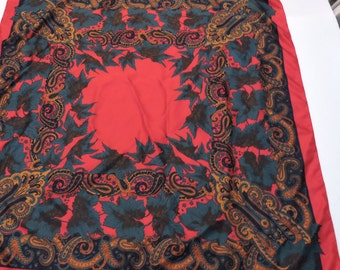 Vintage Silk Scarf by Patricia Paris,Neck Wear,Accessory,Birthday Gift,Holiday Gift
