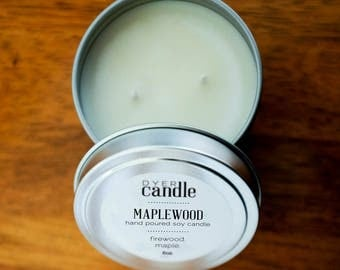 Maplewood Hand Poured Soy Candle - 6 oz.