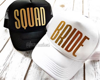 Bride or Squad Trucker Hat |  Bride SQUAD Trucker Hat | Bachelorette TRUCKER Hats | Bachelorette Party Hats | Bride Squad Hats | Bride Hat