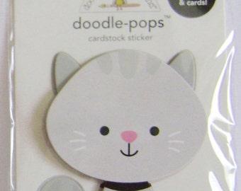 "SALE ** Doodle-Pops ""stormy"" Cardstock Sticker"