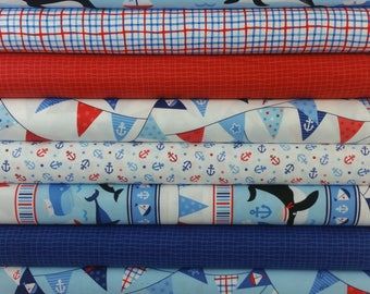 First Mate Bundle from Northcott Fabrics by Deborah Edwards - (9 Fabrics)