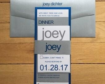 The Joey // Bar mitzvah invitation