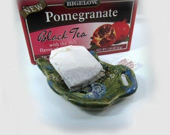 Tea bag holder, tea lovers, ceramic dish, hostess gift,  trending items ,  #26