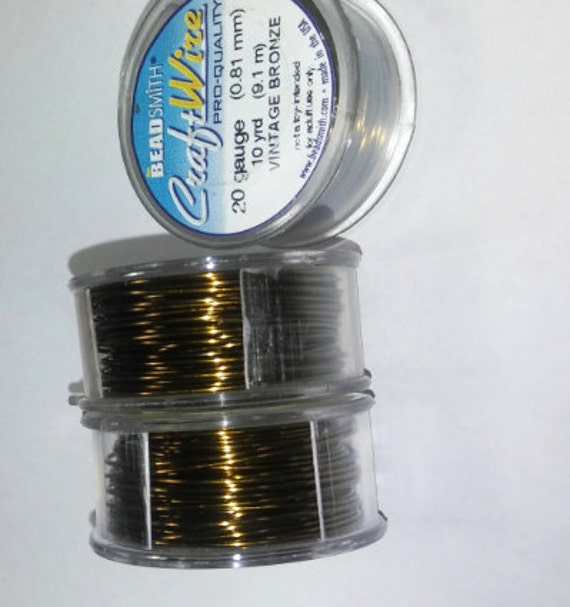 Sale vintage bronze beadsmith craft wire in 18 20 22 for 24 gauge craft wire