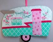 Pink Happy Camper Vintage Shasta Mug Rug