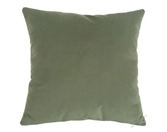 Sage Green Velvet Suede Decorative Throw Pillow Cover / Pillow Case / Cushion Cover / 18x18""