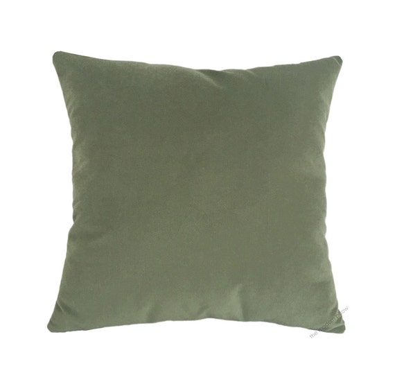 Sage Green Throw Pillow Covers : Sage Green Velvet Suede Decorative Throw Pillow Cover / Pillow