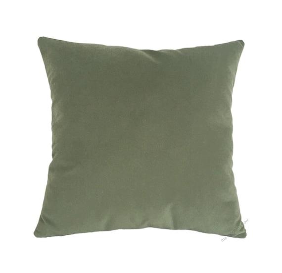 Sage Green Decorative Pillow : Sage Green Velvet Suede Decorative Throw Pillow Cover / Pillow
