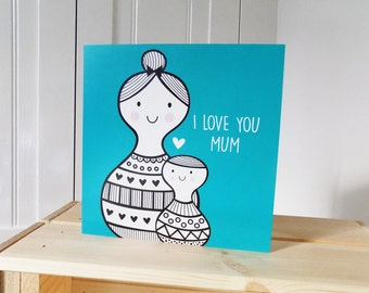 Mother's Day Card | I LOVE YOU MUM Card