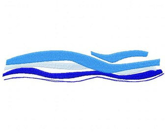 Waves Embroidery Design - Instant Download
